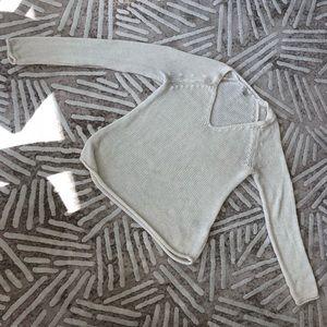 H&M XS white V Neck Sweater